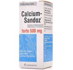 Calcium-Sandoz 500 mg Effervescent 10 Tablets