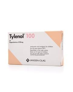 تايلينول 100 مجم 10 تحاميل