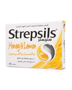 Strepsils Lozenge 24pcs Honey & Lemon