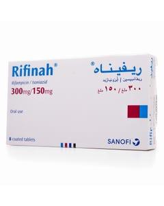 Rifinah 300 mg/150 mg Tablet 8pcs