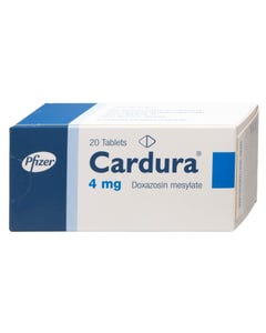 Cardura 4 mg Tablet 20pcs