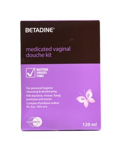 Betadine 10% W/V Vaginal Douche Kit 120 ml
