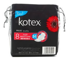 Kotex Over Nites XL/S 8 pcs