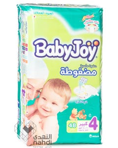 Baby Joy Size (4) Jumbo Pack 48 Diapers