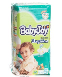 Baby Joy Size (5) Jumbo Pack 40 Diapers
