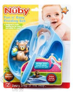 Nuby Feeding Set Fun Easy Fedding Plate & Spoon 5211
