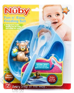 Nuby Feeding Set Fun Easy Fedding Plate & Spoon 5211