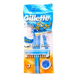 Gillette Body Shaving Razor Body 3 pcs