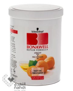 Bonawell Hot Oil Treatment Apricot Oil & Pro Vitamin B5 Jar 810 ml