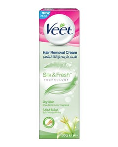 Veet Hair Removal Cream For Dry Skin With Lily Flower 100 ml