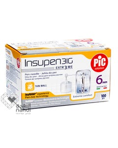PIC Needles For Insulin Pen Single Use 31G 6 mm