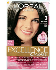 Excellence Hair Color Natural Dark Brown 3