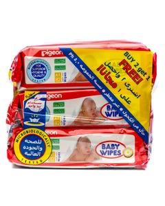 Pigeon Unscented Baby Wipes 246 pcs (Promo 2+1)
