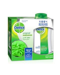 Dettol Shower Gel Original 250 ml With Loofah