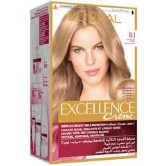 Excellence Hair Color Light Ash Blonde 8.1