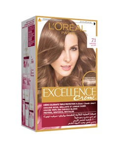 Excellence Hair Color Light Blonde 7.1