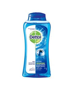 Dettol Shower Gel Active 250 ml With Loofah
