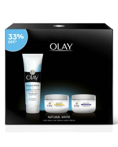 Olay Natural White (Day+ Night + Face Wash) Promo Kit