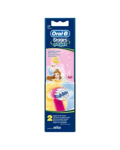 Oral-B Brush Heads Stages Power Refill 2 Pcs ( Princesses )