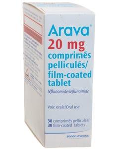 Arava 20 mg Tablet 30pcs