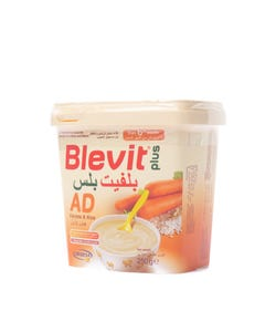 Blevit Plus Baby Cereal Carrot & Rice (Gluten Free) 250 gm