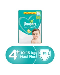 Pampers Size (4+) Large+ 9-16/10-15 Kg Mega Pack 74 Diapers