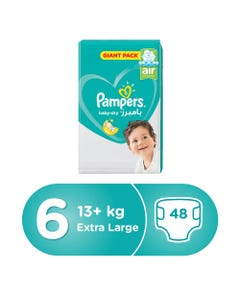 Pampers Size (6) +13/+15 Kg Mega Pack 48 Diapers
