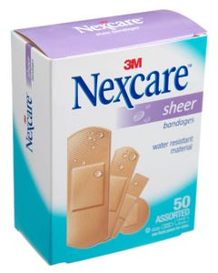 Nexcare Sheer Bandages Assorted 50pcs 658-50 3m