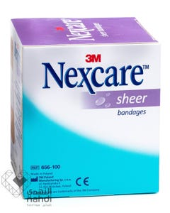 Nexcare Sheer Bandages Sheets 100pcs 72*25 mm 656-100 3m