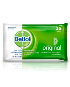 Dettol Antiseptic Wet Wipes 20 pcs