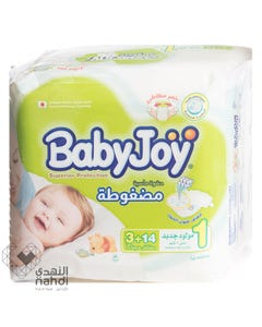 Baby Joy Size (1) New Born Carry Pack 17 Diapers