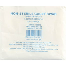 Channelmed Gauze Swabs 7.5*7.5 cm 100 pcs