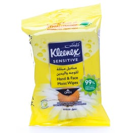 Kleneex Sanitizer Wet Wipes Sensitive Chamomile 15 pcs