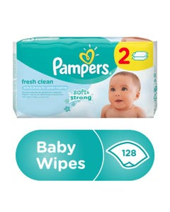 Pampers Fresh Baby Wipes 64 pcs Dual Pack