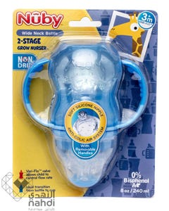 Nuby Feeding Bottle Wide Neck With 2 Hands (Bpa Free) 1094 240 ml