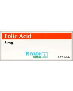 Folic-Acid 5 mg 20 Tab