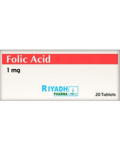 Folic-Acid 1 mg 20 Tab