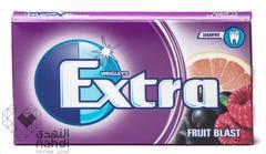 Extra Gum Sugar Free Raspberry Blackcurrant Grapefruit Flavor 12 pcs