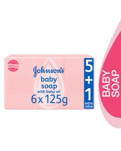 Johnson Baby Soap With Oil 125 gm (Promo 5+1)