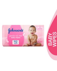 Johnson Baby Gentle Cleansing Dual Pack Wipes 112 Pcs