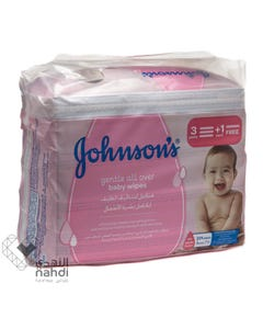 Johnson Baby Gentle Cleansing Wipes 224 pcs (Promo 3+1)