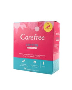 Carefree Daily Pads With Cotton Extract 58 pcs