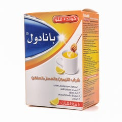 Panadol Cold&Flu Sachet Hot Lemon& Honey 10 Pcs
