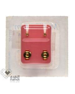 Medi System Golden Earrings White Color Christal 12 pcs USA