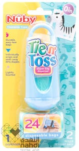 Nuby Tien Toss Diaper Bag Dispenser 24 pcs