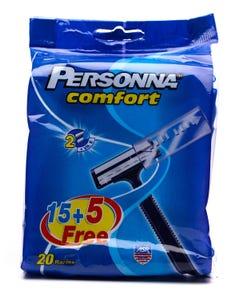 Personna Comfort Disposable Razor Promo Pack 15 pcs + 5 pcs Free
