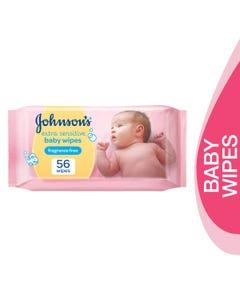 Johnson Baby Wipes Extra Sensitive 56 pcs