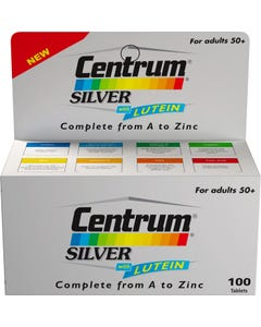 Centrum Silver With Lutein 100 Tab