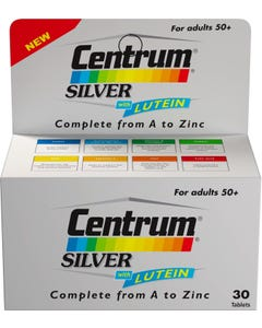 Centrum Silver With Lutein 30 Tab
