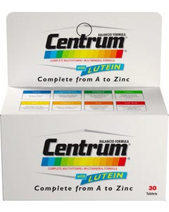 Centrum With Lutein 30 Tab